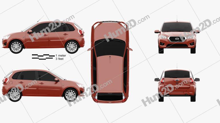 Datsun mi-DO 2014 car clipart