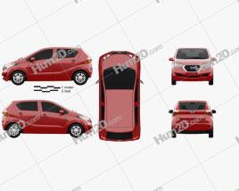 Datsun Redi GO 2016 car clipart