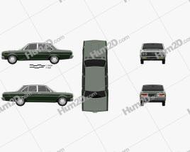 Datsun 2300 Super Six 1969 car clipart