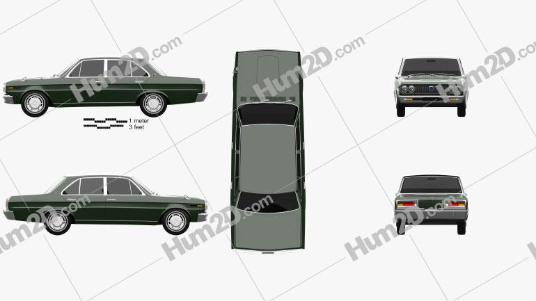 Datsun 2300 Super Six 1969 Clipart Image