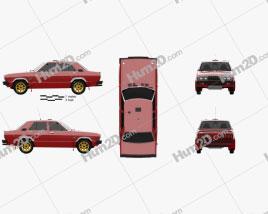 Datsun Stanza 4-door Race car sedan 1977 car clipart