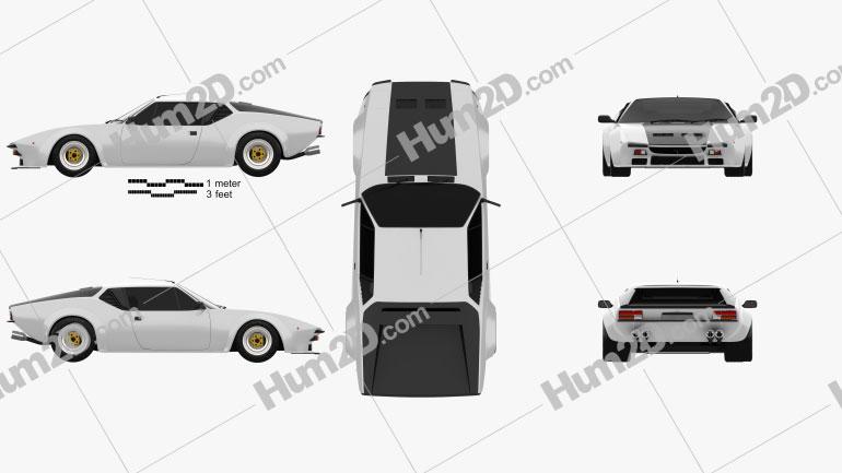 De Tomaso Pantera GT5 1980 Clipart Image