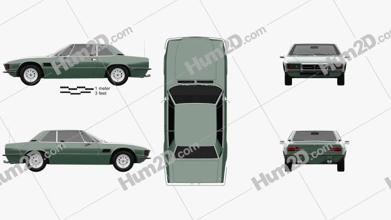 De Tomaso Longchamp 1980 car clipart