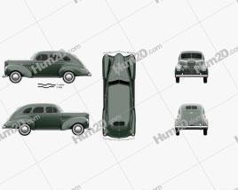 DeSoto Deluxe Touring Sedan 1939 car clipart
