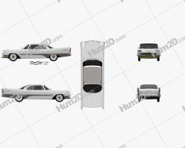 DeSoto Adventurer Hardtop Coupe 1957 car clipart
