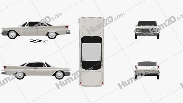 DeSoto Fireflite Hardtop Coupe 1960 Imagem Clipart