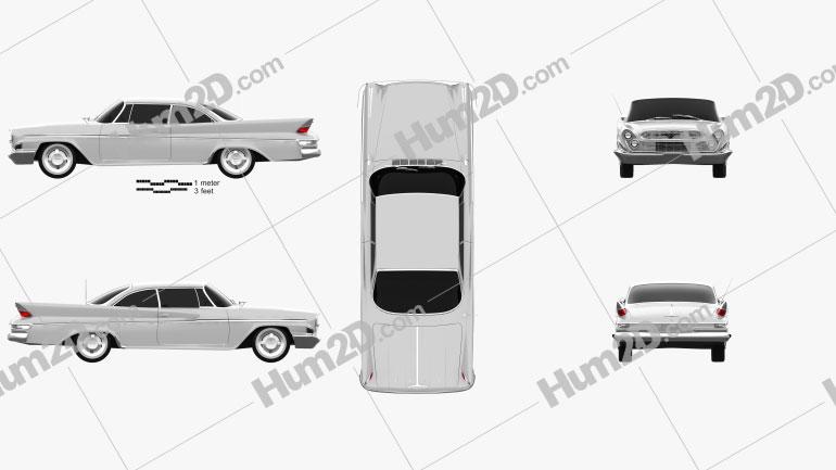 DeSoto Hardtop Coupe 1961 Imagem Clipart