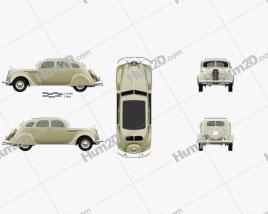 DeSoto Airflow Sedan 1935 car clipart