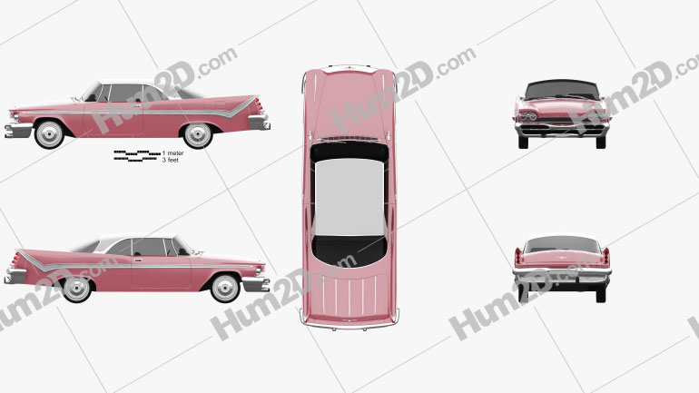 DeSoto Firesweep Sportsman Hardtop Coupe 1959 car clipart