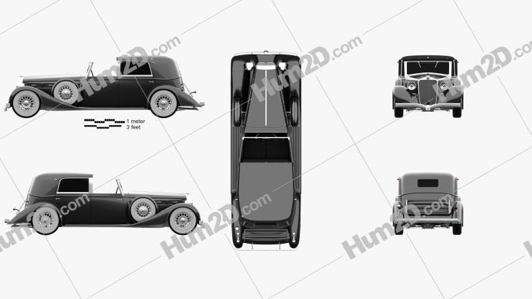 Delage D8 100 Coupe Chauffeur par Franay 1936 car clipart