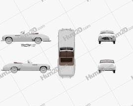 Delahaye 235 Chapron Cabriolet 1951 Clipart