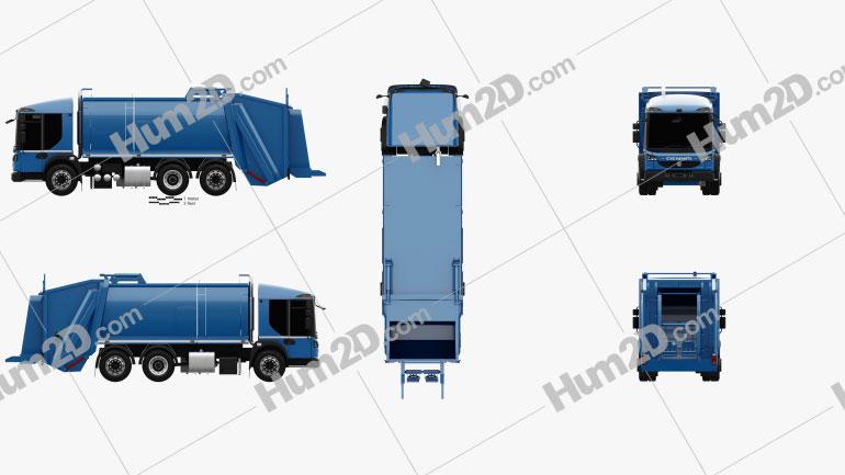 Dennis Eagle Elite 6 Olympus Refuse Truck 2013 clipart