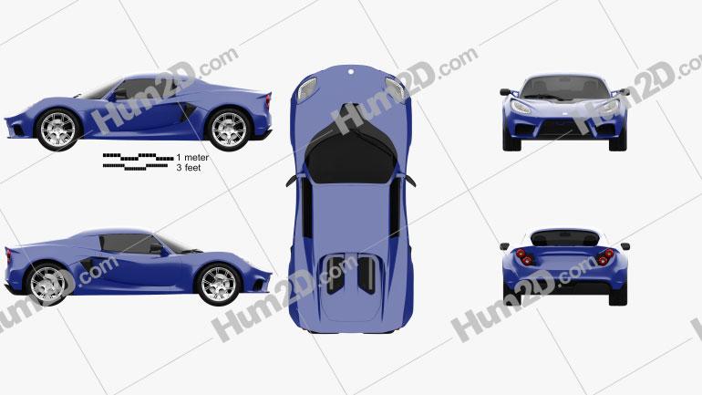 Detroit Electric SP01 2013 car clipart