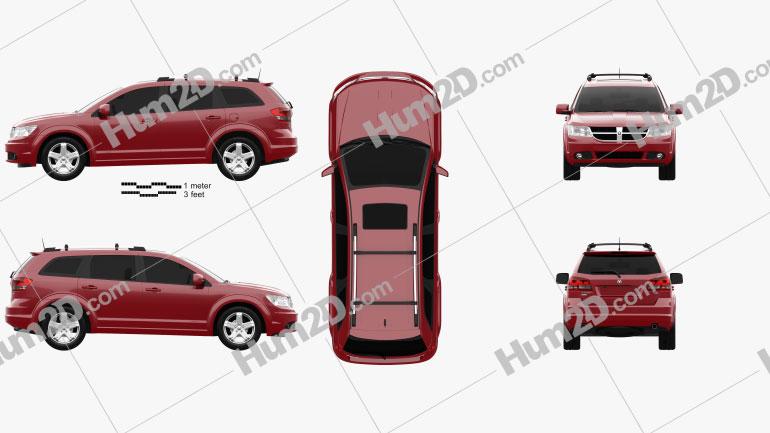 Dodge Journey 2009 Clipart Image