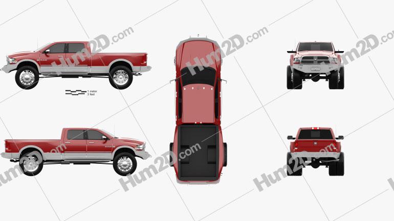 Dodge Ram 2010 Clipart Image