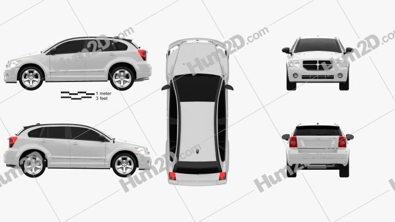 Dodge Caliber 2010 car clipart
