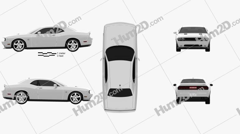 Dodge Challenger SRT8 2011 car clipart