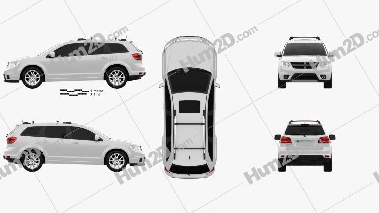 Dodge Journey 2011 car clipart