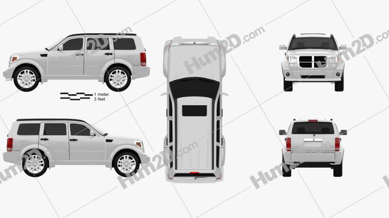 Dodge Nitro 2011 car clipart