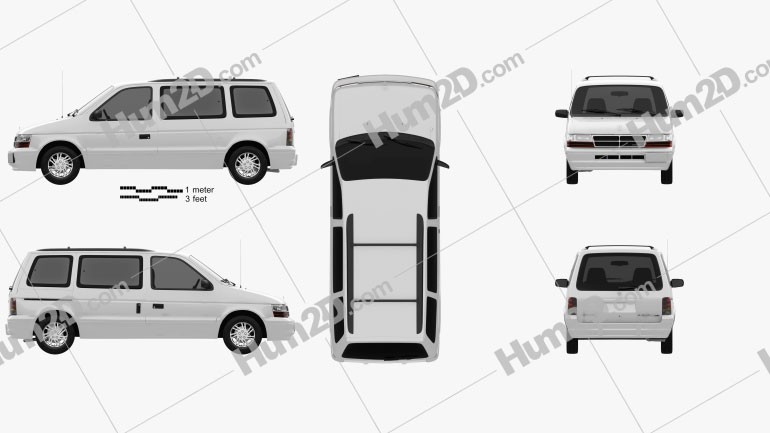 Dodge Caravan 1991 clipart
