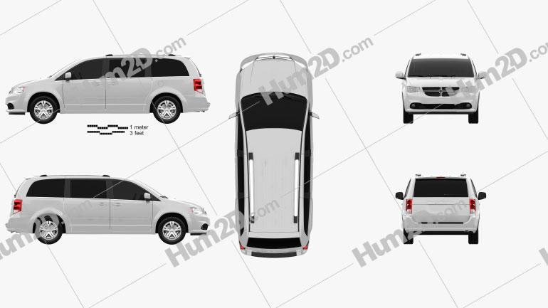 Dodge Grand Caravan 2011 Clipart Image