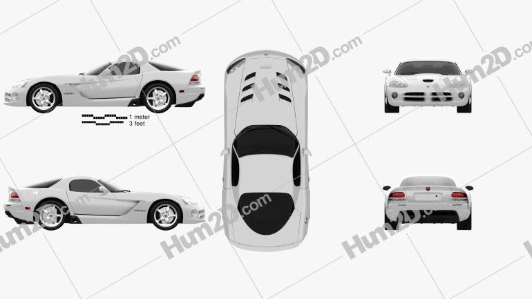 Dodge Viper SRT10 2010 car clipart