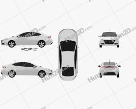 Dodge Dart 2013 car clipart