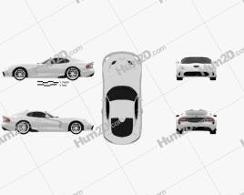 Dodge SRT Viper GTS 2012 car clipart