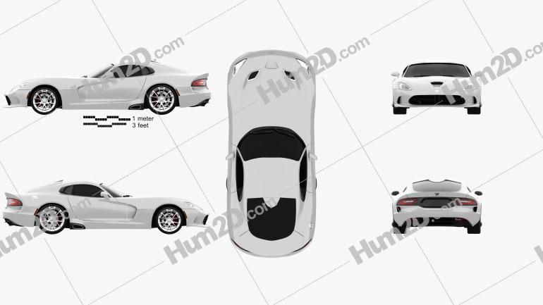 Dodge SRT Viper GTS 2012 Clipart Image