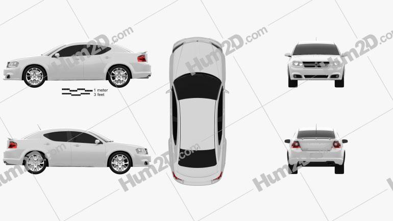 Dodge Avenger RT 2012 car clipart