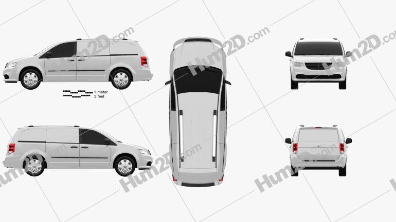 Dodge Ram CV 2011 Clipart Bild