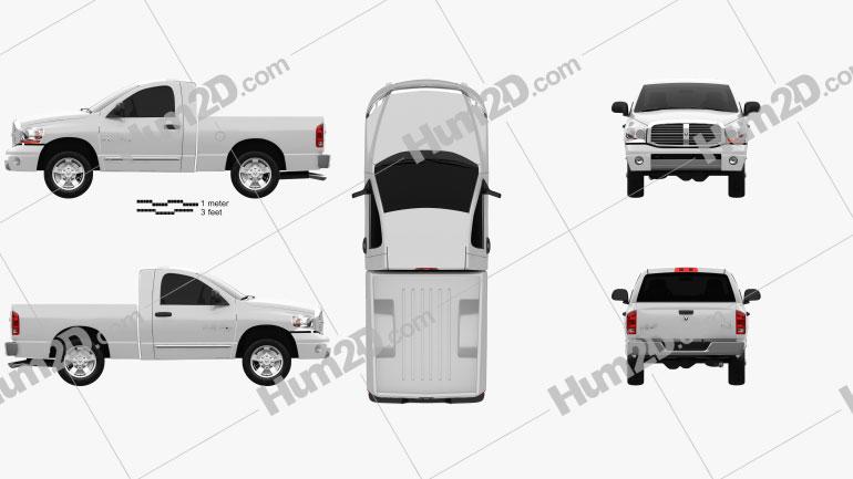 Dodge Ram 1500 Regular Cab Laramie 120-inch Box 2008 car clipart