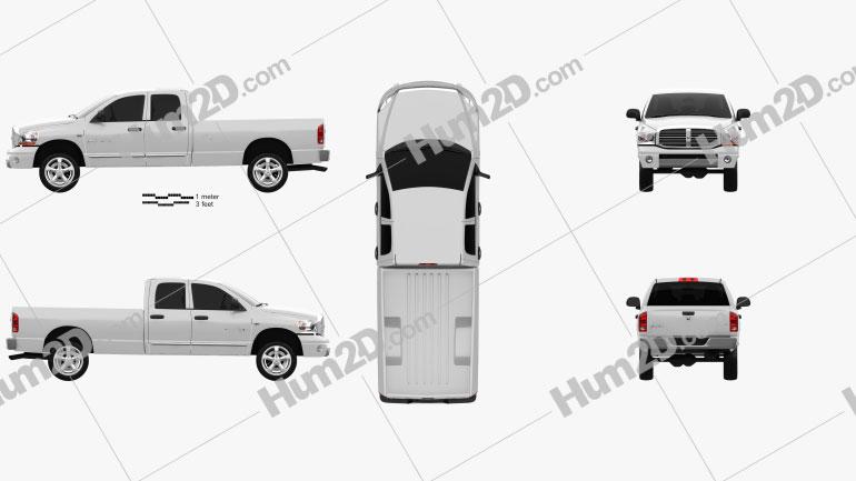 Dodge Ram 1500 Quad Cab Laramie 160-inch Box 2008 car clipart