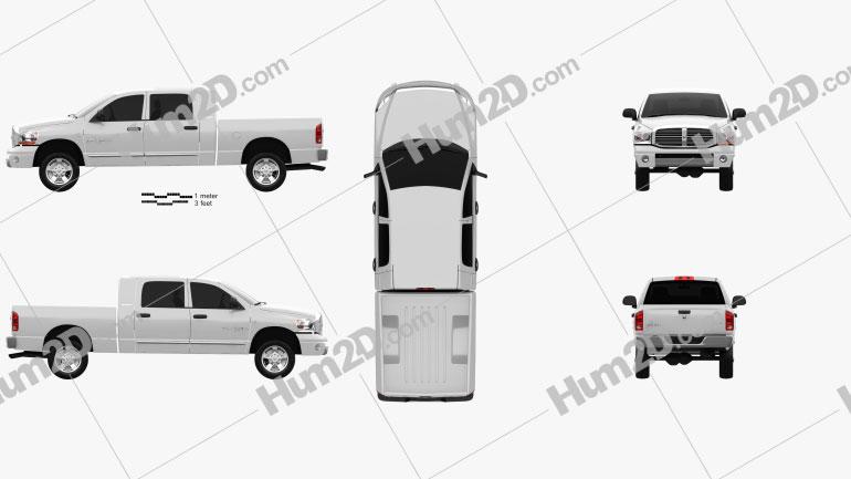 Dodge Ram 1500 Mega Cab Laramie 160-inch Box 2008 car clipart