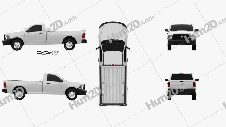 Dodge Ram 1500 Regular Cab ST 8-foot Box 2012 car clipart