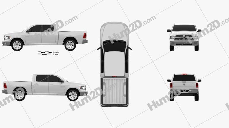 Dodge Ram 1500 Crew Cab Big Horn 5-foot 7-inch Box 2012 car clipart