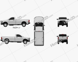 Dodge Ram 2500 Regular Cab ST 6-foot 4-inch Box 2012 car clipart