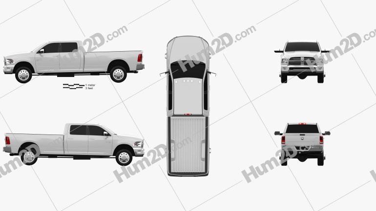 Dodge Ram 2500 Crew Cab Big Horn 8-foot Box 2012 car clipart