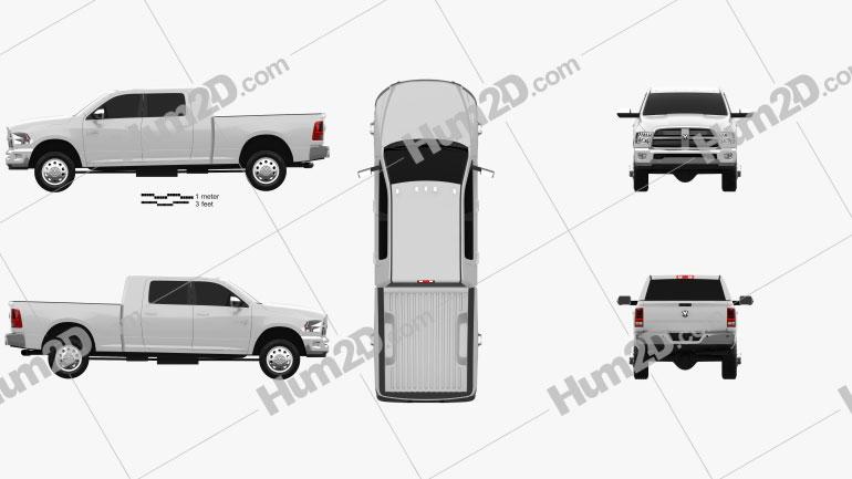 Dodge Ram 2500 Mega Cab Big Horn 6-foot 4-inch Box 2012 car clipart