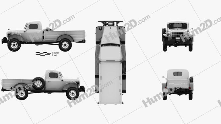 Dodge Power Wagon 1946 clipart