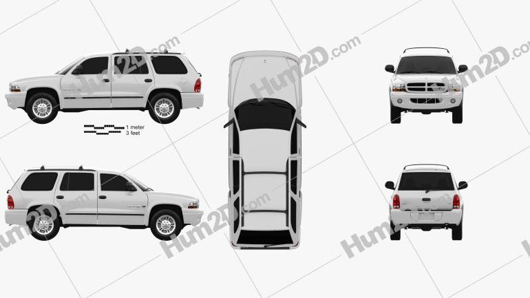 Dodge Durango 1997 car clipart