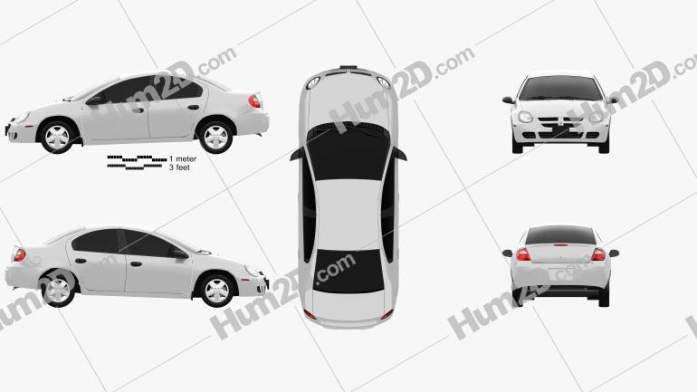 Dodge Neon 2005 car clipart