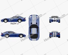 Dodge Viper GTS 1998 car clipart