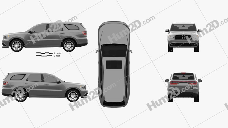 Dodge Durango RT 2014 car clipart