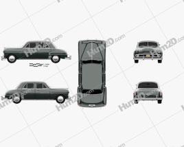 Dodge Coronet sedan 1950 Clipart