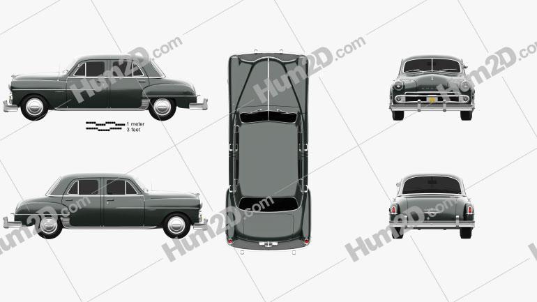 Dodge Coronet sedan 1950 car clipart