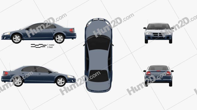 Dodge Stratus 2006 car clipart