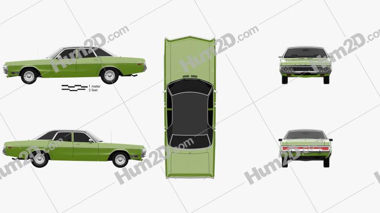 Dodge Polara Hardtop Coupe 1970 car clipart