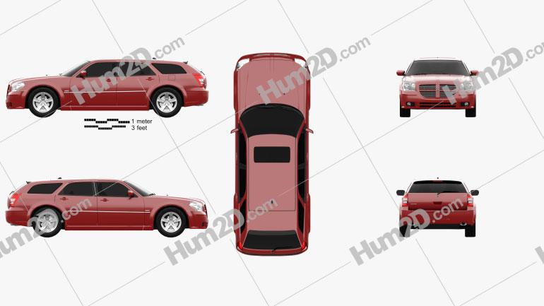 Dodge Magnum RT 2004 car clipart