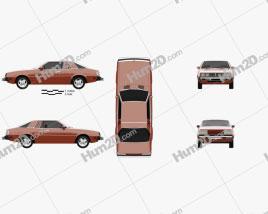 Dodge Challenger 1978 car clipart